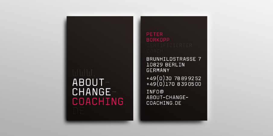 About change coaching superieur graphique business card front back reheart Gallery