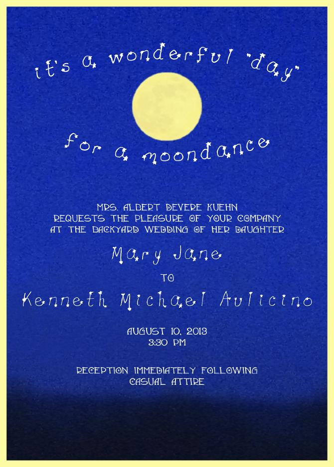 Moon Stars Wedding Invitations
